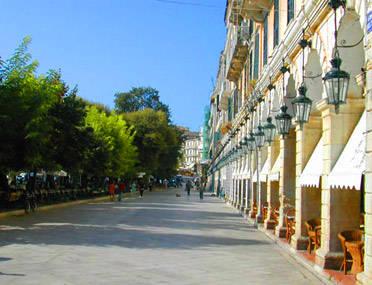 Korfu - A híres Liston